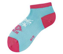 Füßlinge (5 Paar) hellblau / apfel / pink / weiß
