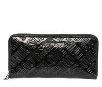 Portemonnaie mit Logo-Prägung schwarz