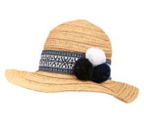 Strohhut 'Coachella' beige / blau