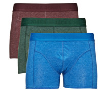 Kräftig gefärbte Boxershorts blau / grün / rot