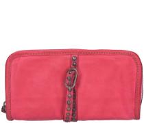Azalea Geldbörse Leder 22 cm pink