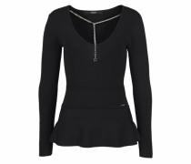 V-Ausschnitt-Pullover 'chain' schwarz