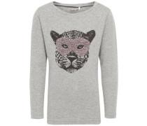 Oberteil mit langen Ärmeln Leoparden-Print grau