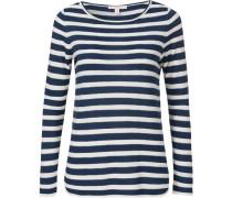 Gestreifter Pullover dunkelblau / weiß