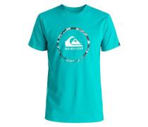 'Classic Active Logo 3.0' T-Shirt türkis / weiß