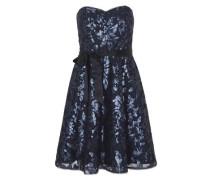 Schulterfreies Kleid nachtblau