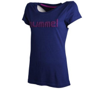'Classic Bee Rebel' T-Shirt Damen blau