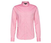Hemd im Allover-Design rosa