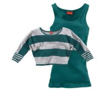 Shirt & Top (Set 2-tlg.) für Mädchen grau / grün