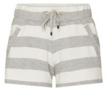 Shorts mit Streifenmuster graumeliert / weiß