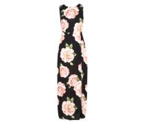 Maxikleid 'large Floral' schwarz