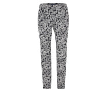 Loose-fit-Pants mit Alloverprint navy / offwhite