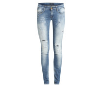 5-Pocket Skinny Jeans 'Rose' blau