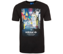 Street Photo T-Shirt Herren schwarz