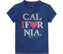 T-Shirt »California Mini CN Knit S/s« blau / pink / weiß