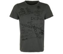T-Shirt 'crew Neck Artwork' schwarz