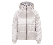 Steppjacke 'hooded Puffa Jacket' silber