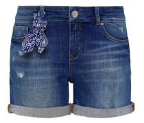 Jeans-Shorts mit Paisley-Bandana blue denim