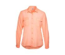 Hemdbluse aus Baumwolle und Viskose orange