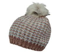 PIECES Mütze aus Grobstrick hellblau