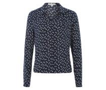 Bluse mit V-Ausschnitt blau