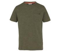 T-Shirt Ovi mit strukturiertem Design grün