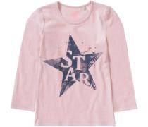 Langarmshirt für Mädchen Stern rosa