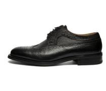 Schuhe 'Brogue Italian Grain' schwarz