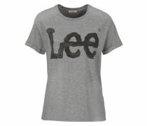 T-Shirt 'Logo Tee' dunkelgrau / graumeliert / schwarz