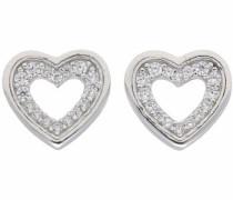 Paar Ohrstecker 'Herz' silber
