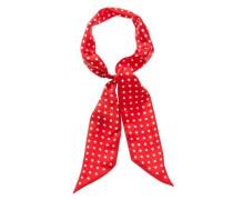 Seidenschal mit Punkten rot / weiß