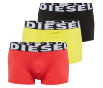 Pants im 3er-Pack gelb / neonrot / schwarz