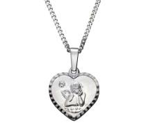 Halsschmuck: Halskette »Herz mit Schutzengel« silber