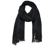 Flauschiger Strick-Schal schwarz