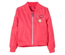 Funktionale Fliegerjacke mit Patches pink
