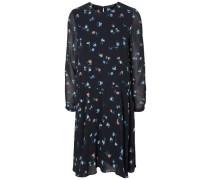 Feminines Kleid mit langen Ärmeln grau