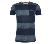 T-Shirt 'striped crewneck tee' marine / dunkelblau