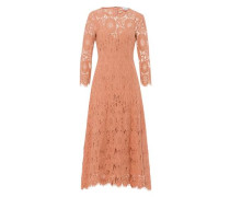 Kleid 'Ankle Length Lace Dress' apricot