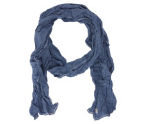 Schal blau / weiß