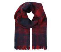Großer Schal aus Bouclé-Gewebe rot