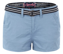 Shorts mit gestreiftem Gürtel blau
