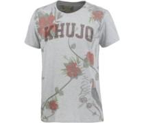 Printshirt grau / stone / hellgrün / grenadine