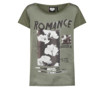 T-Shirt 'bloom' oliv