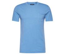 T-Shirt im Flammgarn-Design blau