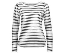 Langarmshirt 'Susetta' dunkelblau / weiß