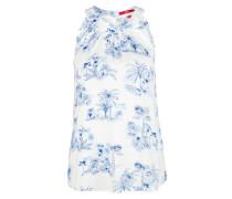 Bluse weiß / blau