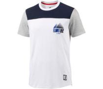 'Walsh' T-Shirt Herren navy / graumeliert / weiß