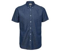 Regular Fit-Kurzarmhemd blau / weiß