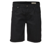 Schwarze Jeansshorts schwarz