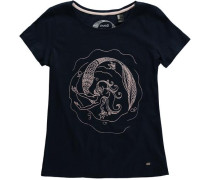 T-shirt 'LG Mermaid Bay' nachtblau / rosa